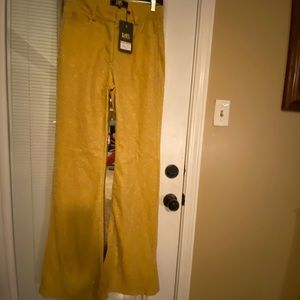 Sparkly gold bell bottom pants NWT